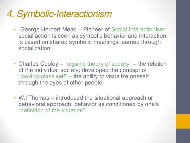 the significance of george meads theories to society Generalized other is a special case of role-taking in which the individual  to an  individual's recognition that other members of their society hold specific values   contextualized in mead's theory of intersubjectivity, the generalized other is a.