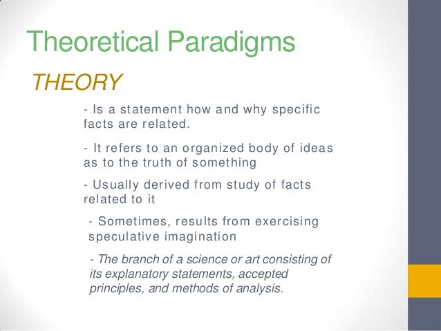 sociological theoretical paradigms A final important learning goal of the unit is understanding what a social theory is, and why there are theories in sociology some understanding of the term, theoretical paradigm, is necessary.