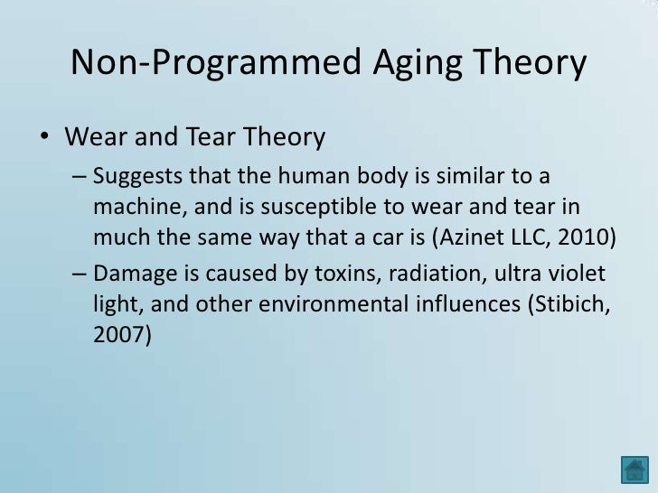 WEAR AND TEAR THEORY OF AGING EPUB