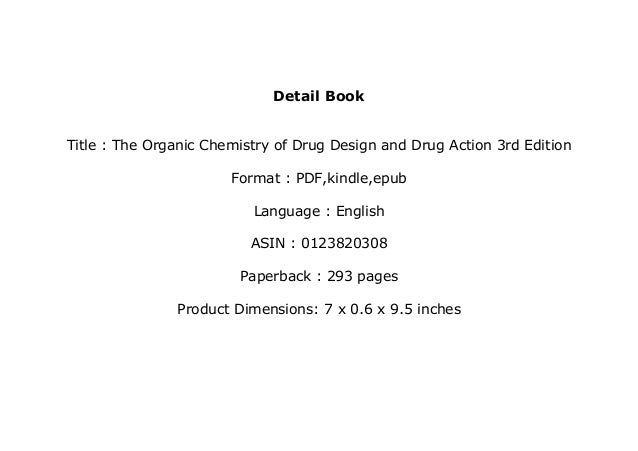 Ebook Audiobook Library The Organic Chemistry Of Drug Design And Drug
