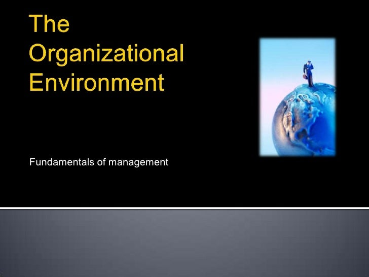 The Organizational Environment<br />Fundamentals of management<br />