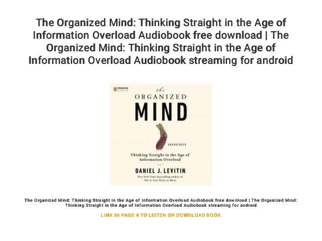 The organized mind pdf free download