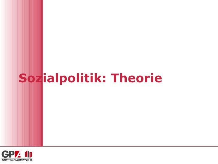 Sozialpolitik: Theorie