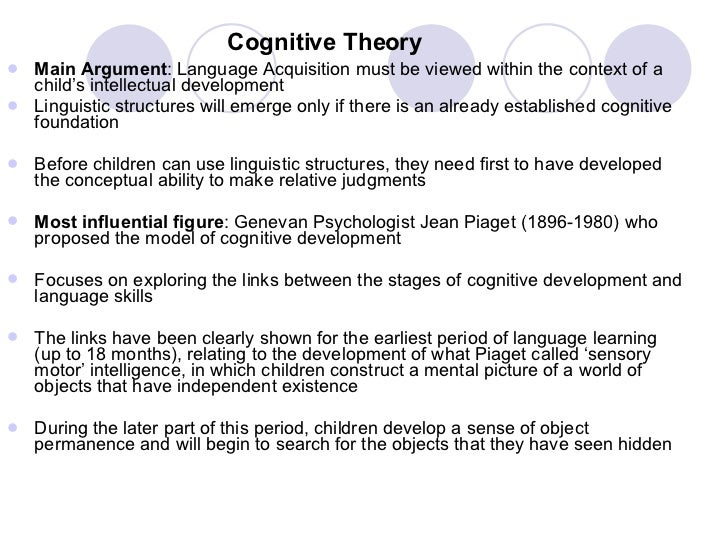 theories of language acquisition The theory of universal grammar (ug), as proposed by chomsky (eg chomsky,  1986a, 1988), sees the acquisition of the first language as a process of setting.