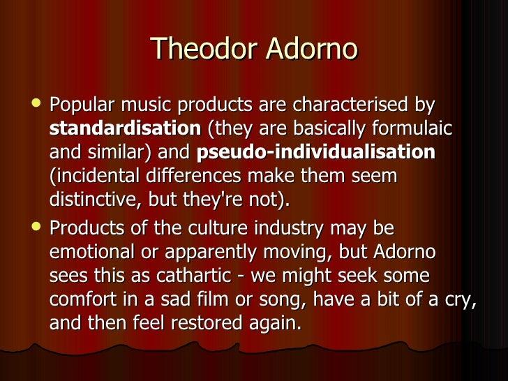 Adorno On Popular Music