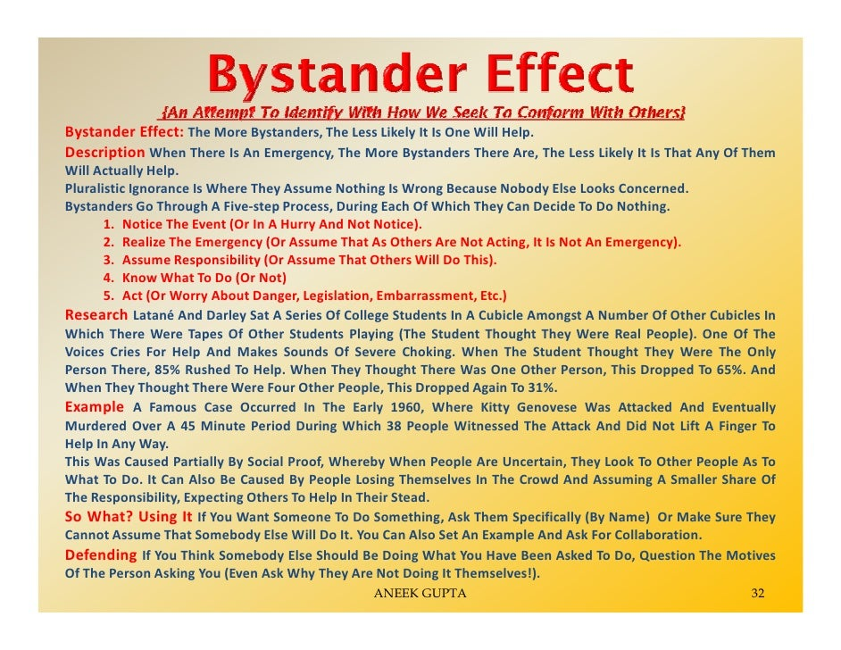problems of the bystander effect essay Other bystander effect essay free bystander effect papers,  problems could occur  (view only) for more on brain development, see:  .