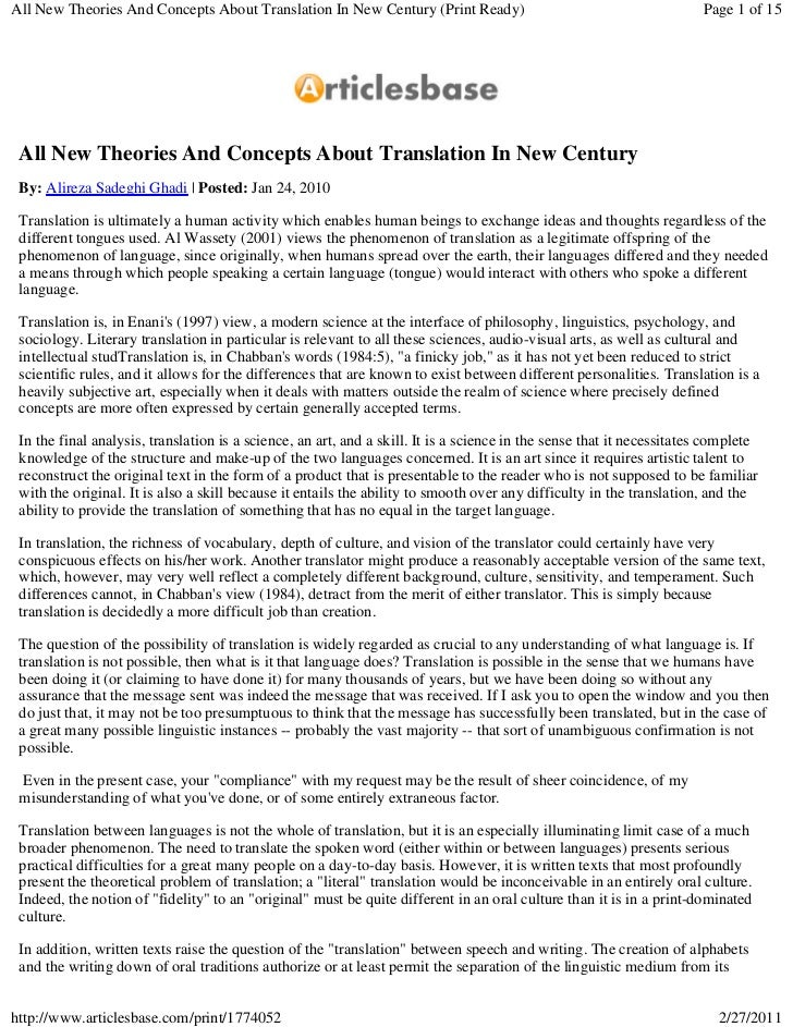 Newmark and the translation of metaphors english language essay