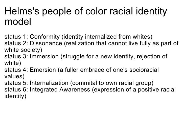 racial identity development model essay 4 stages of racial ethnic identity development using the four stages racial-ethnick development model write in essay form.