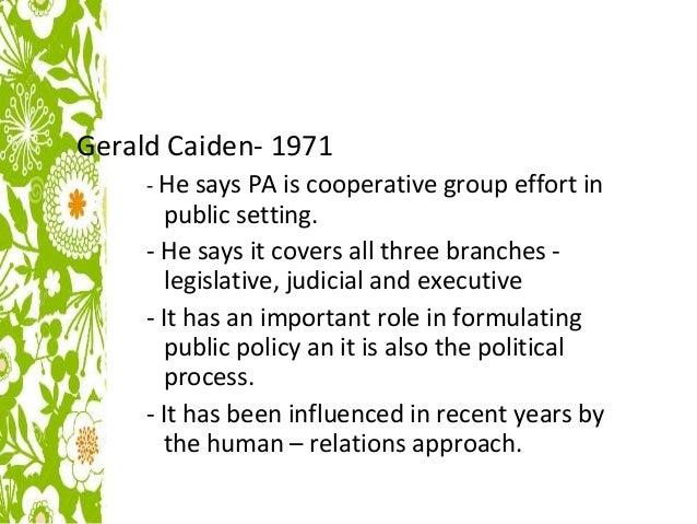 Gerald Caiden