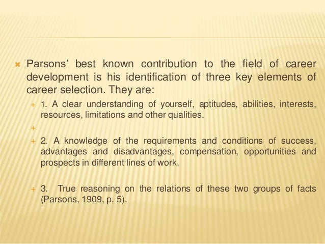 theories of career development pdf
