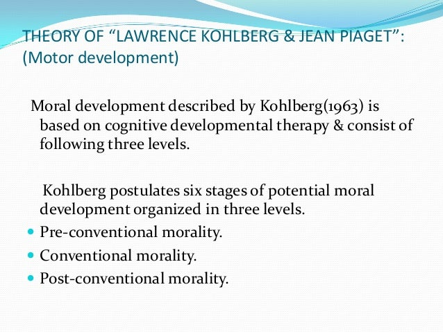 describe and evaluate kohlberg's cognitive theory