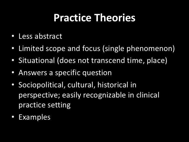application of theory essay An essay or paper on application of orem nursing theory should, in general, have a significant impact on clinical practice.