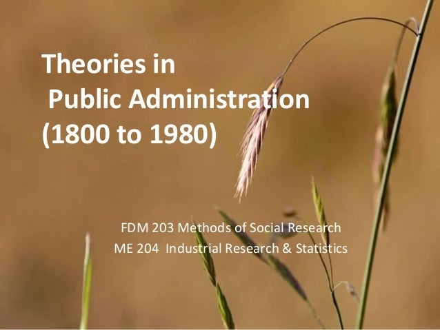 theories and development of public administration Theories and development of public administration like any other field of social sciences, the development of public administration as a study and also, as a practice is a response to.