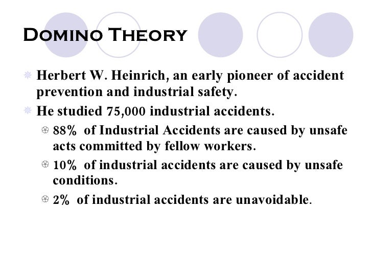 compare theory of accident causation In this article, a brief outline of various accident causation theories is  accidents  are either increased or decreased as compared to the rest of.