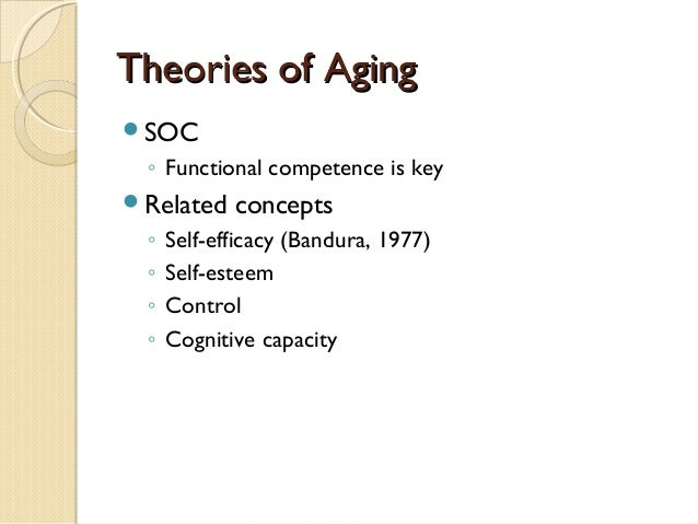 theories of gerontology Theories of ageing there are different sociological theories studying ageing as a process and its impact on the people and society as a whole.