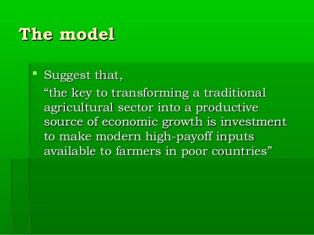 theories for the development of agriculture This ma is unique for its focus on the dynamic interactions between local  livelihoods in rural areas and agriculture understood as a globalised industry.