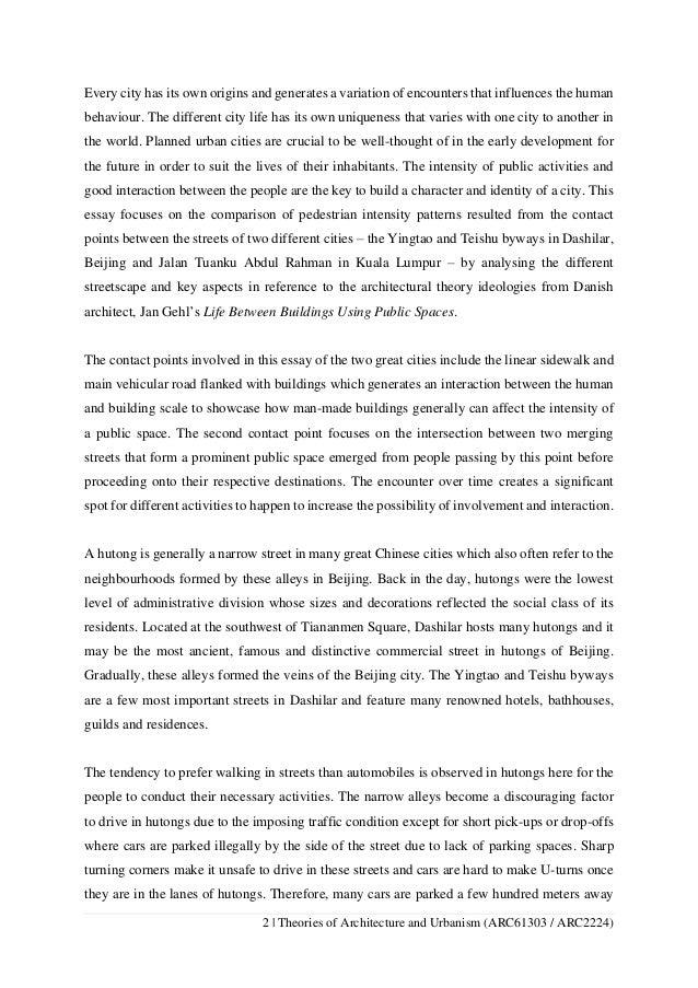 comparison architecture essay