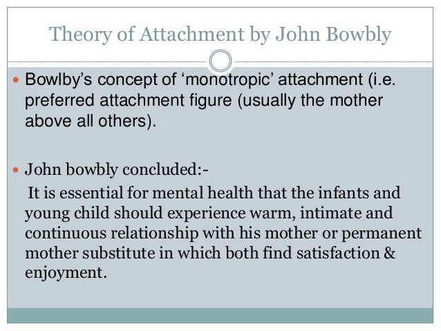 Theories of attachment by Dr  Vaibhav Dua