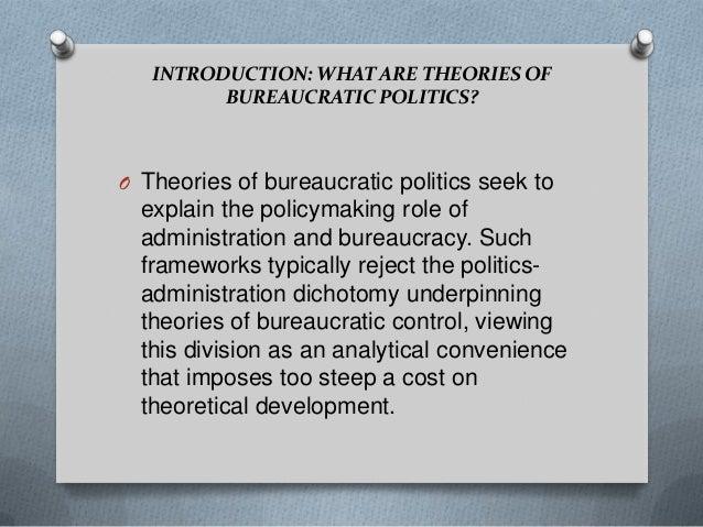 politics administration dichotomy example