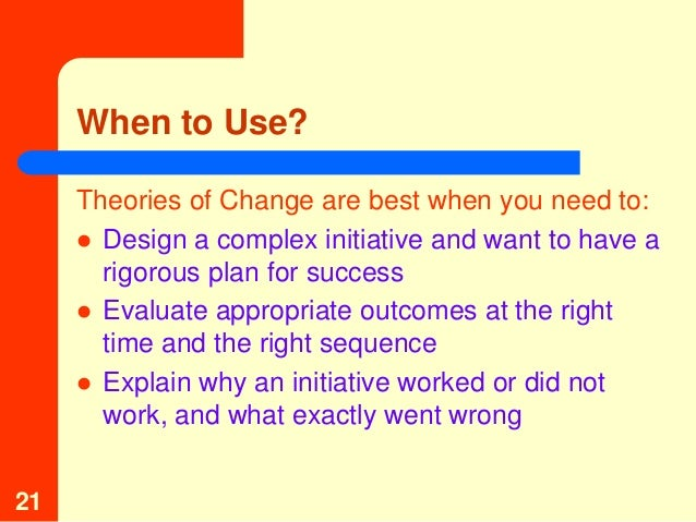 change theories implementation of change and Kanban implementation from a change management perspective: a case study of volvo it mahgol amin tomomi kubo school of business, society and engineering.