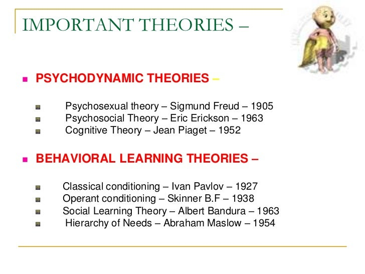 the life and theories of psychologist Developmental psychology theories tend to explain development in terms of a  progression through life.