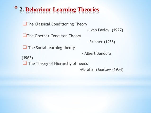 examples of classical conditioning in child development