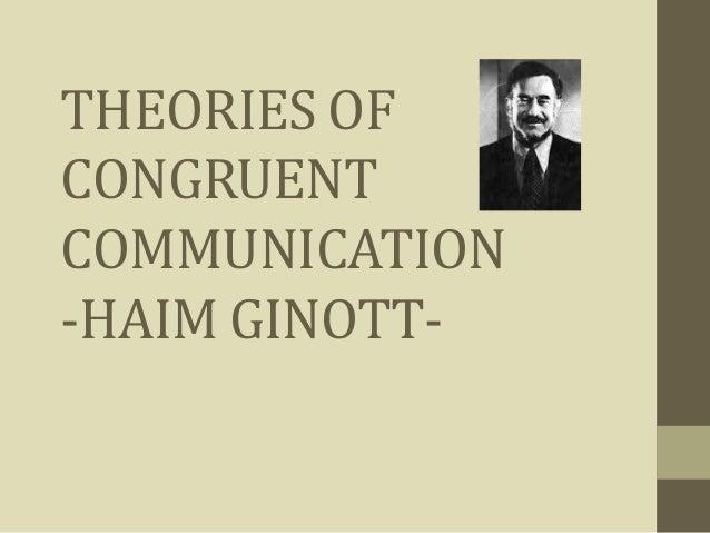haim ginott congruent communication pdf