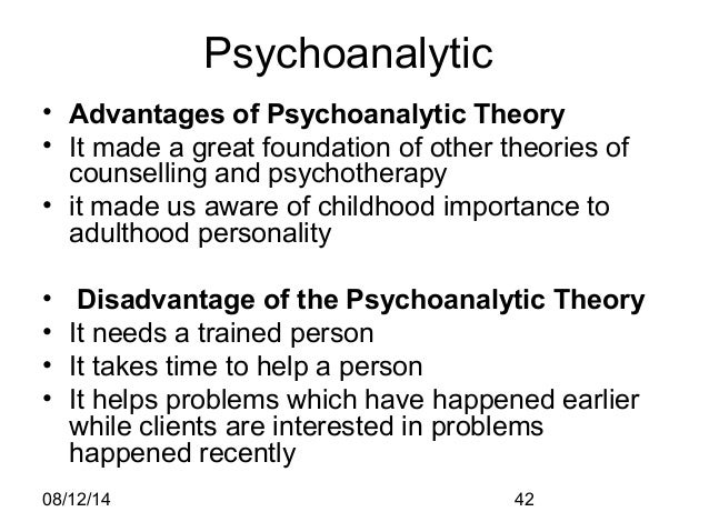 advantages of psychoanalysis Even though case studies do have their advantages particularly in neuro-psychology where we of advantages and disadvantages of case studies.