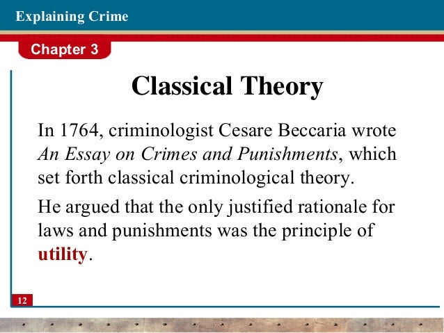 theories of crime criminology  12