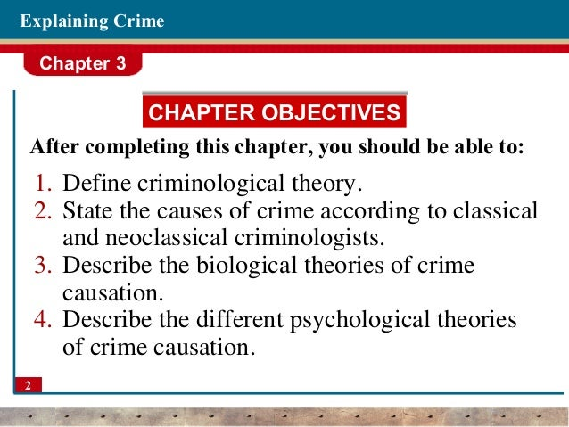 theories of crime causation criminology