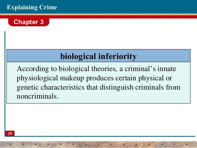psychological theories for explaining crime When examining psychological theories of crime, one must be cognizant of the three major theories the first is psychodynamic theory, which is centered on.