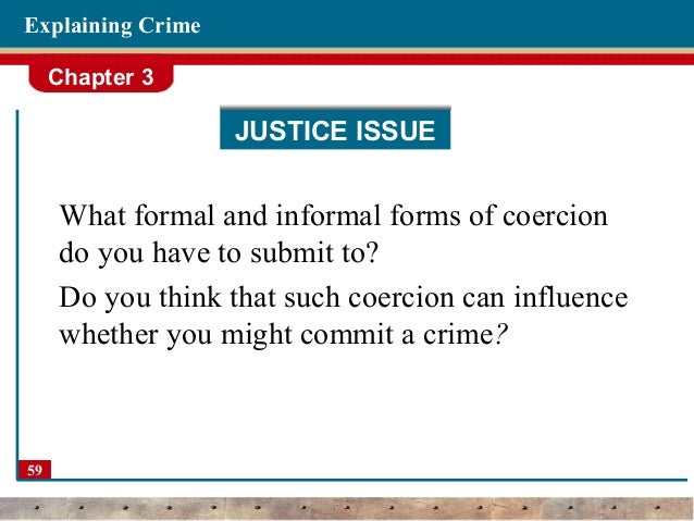 Three Theories of Criminal Behavior