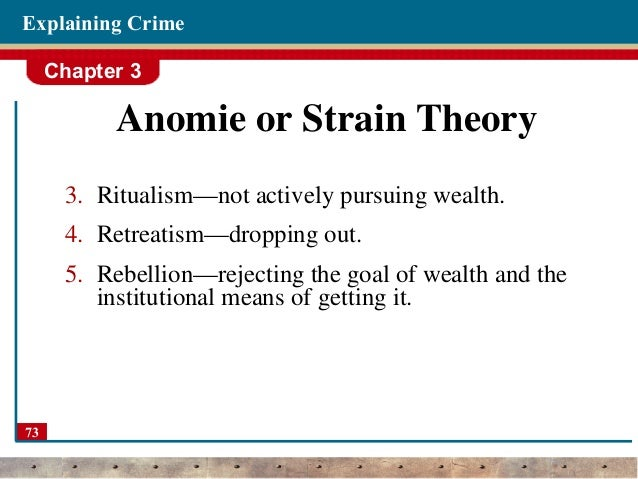 What is a real-life example of anomie?