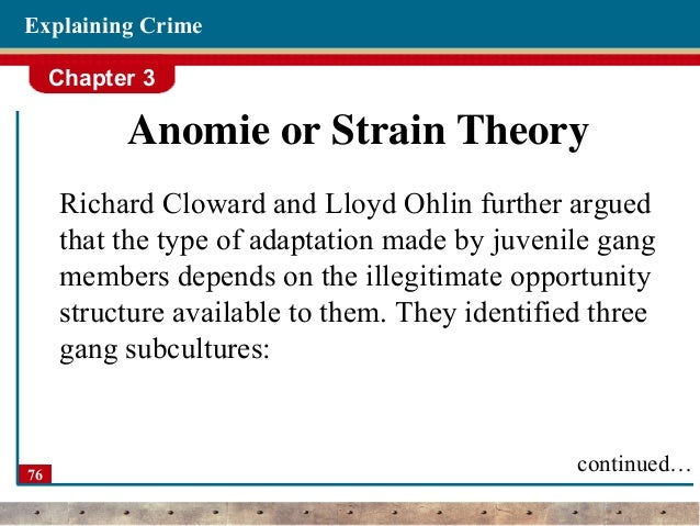 albert cohen approach applied to gangs Be applicable to certain types of crime, and not others there is no 'right' or 'wrong ' theory the theories covered can be categorised into two main approaches: 1)  biological  status frustration is associated with the work of albert cohen (1955) , who  (territorial violence and gang fighting) and retreatist (drugs and alcohol.