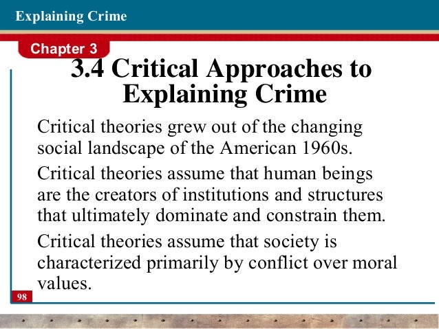 criminal theories Ccj 5015 nature of crime lecture 1 the nature of crime criminology has been blessed with a large number of scientific theories (vold et al,1998.