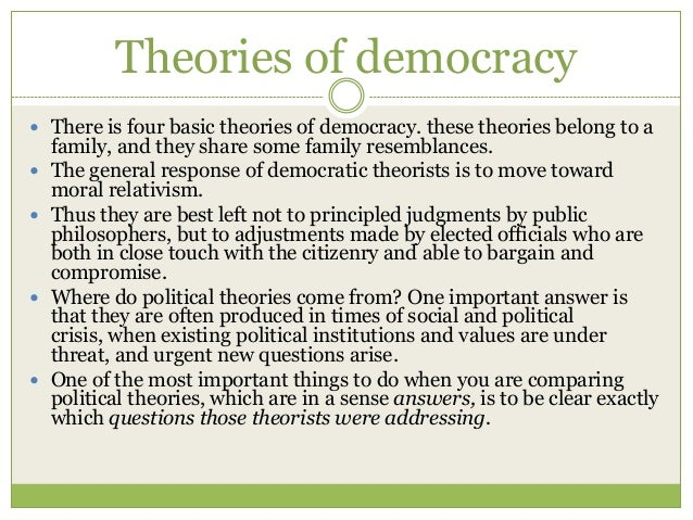 concepts of democracy essay What are the main features of a democracy explain why new zealand is considerable to be a democracy this essay will define democracy and identify its main.