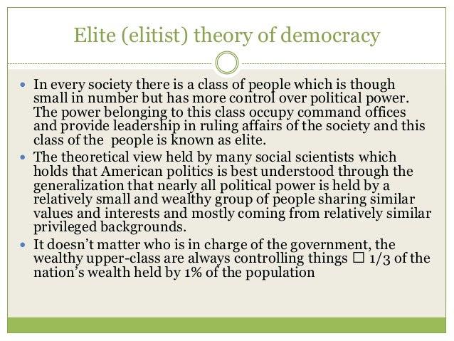 elite and democracy