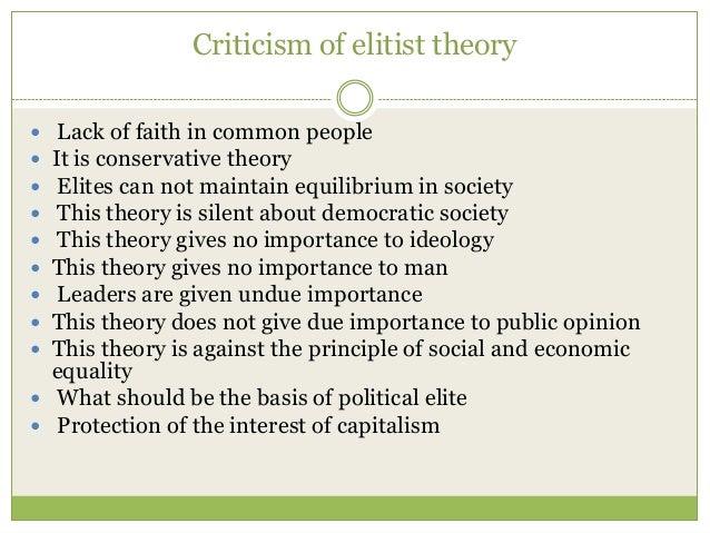 elitist view of democracy