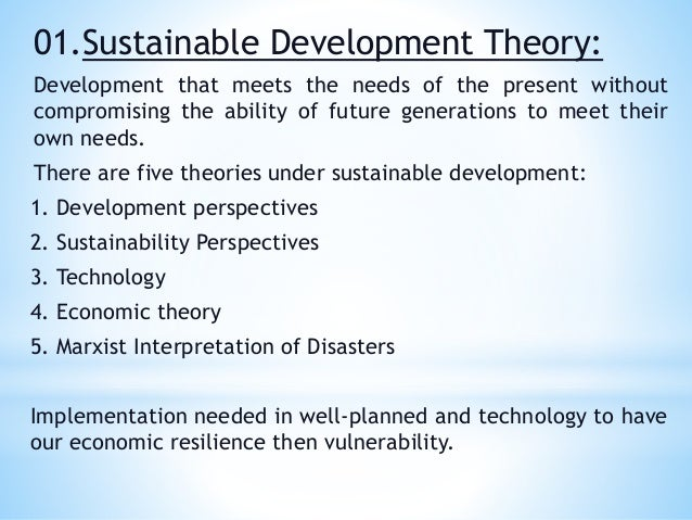 theories of sustainable development pdf