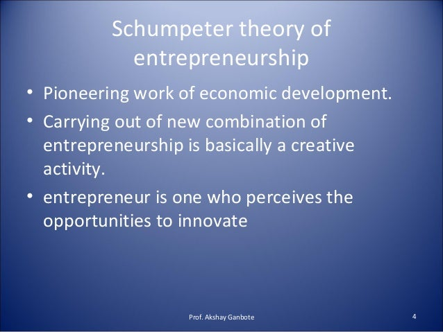 entrepreneur an economic theory Theoretical analysis often can penetrate difficult economic problems in circumstances where common sense is an unreliable guide to decision making.