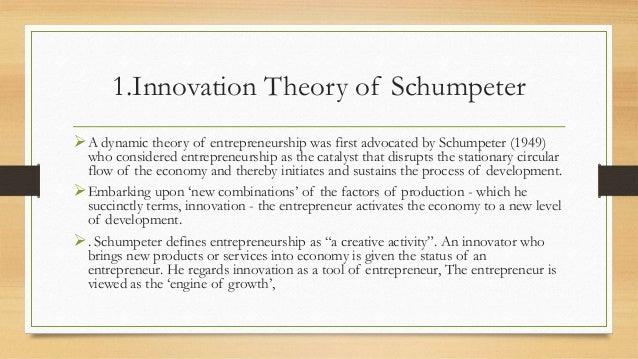 schumpeter theory of entrepreneurship pdf