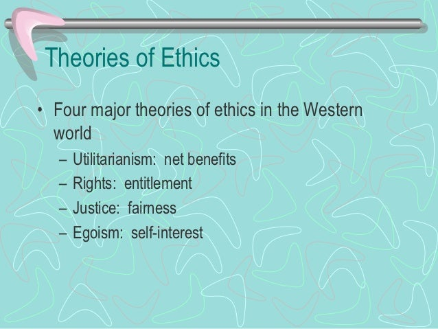 Theories of Ethics (Cont.)• Utilitarianism (cont.)   – Assessment of net benefits includes any important     indirect effe...