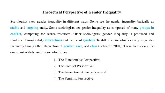 Functionalist perspective gender inequality