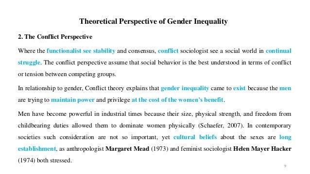 gender theories in sociology