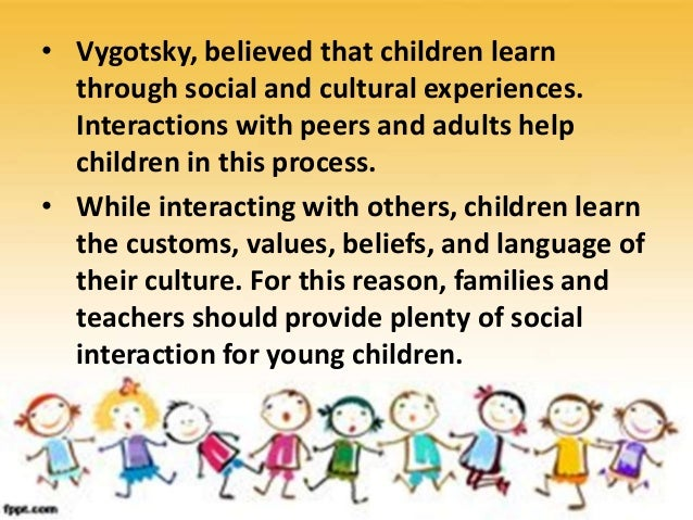 • Vygotsky believed language is an important tool for thought and plays a key role in cognitive development. • One of Vygo...