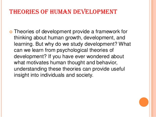 5 major theories of human development