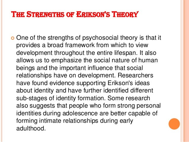 erik erikson 2 essay Check out our top free essays on erikson s psychosocial development to help you write your own essay.