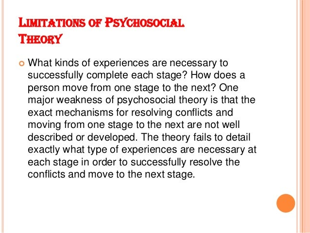 Disadvantages of psychosocial theory