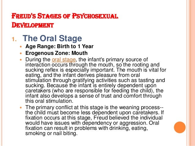 Psychosexual stages oral fixation