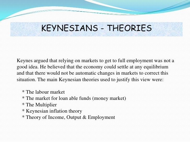 classical theory of output and employment However, if output ends up being higher than its full employment level, over time the price level will start to increase and the long-run effects of these monetary and fiscal expansions is identical to the implications of the classical theory.
